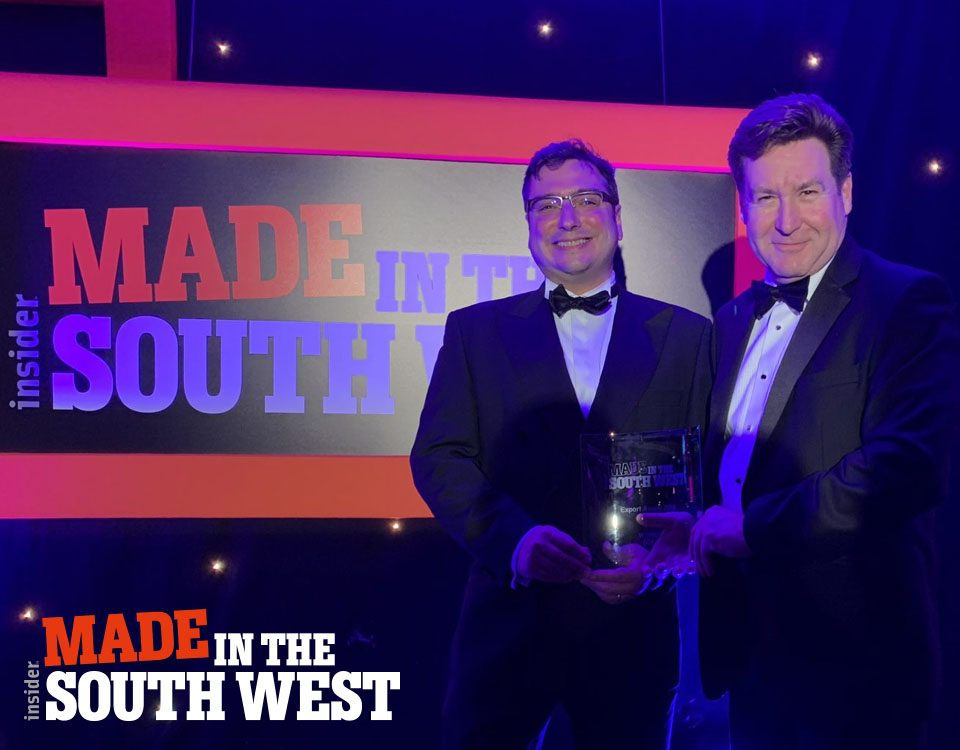 James Oliver and Tony Lockwood receiving the award for Business Leader Of The Year Winner